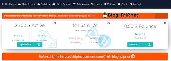 chipinvesment active dep