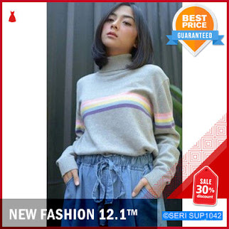 SUP1042S20 Sweater Turtleneck Candy Rainbow Murah BMGShop