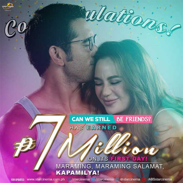 Can We Still Be Friends makes P7 million on its opening day
