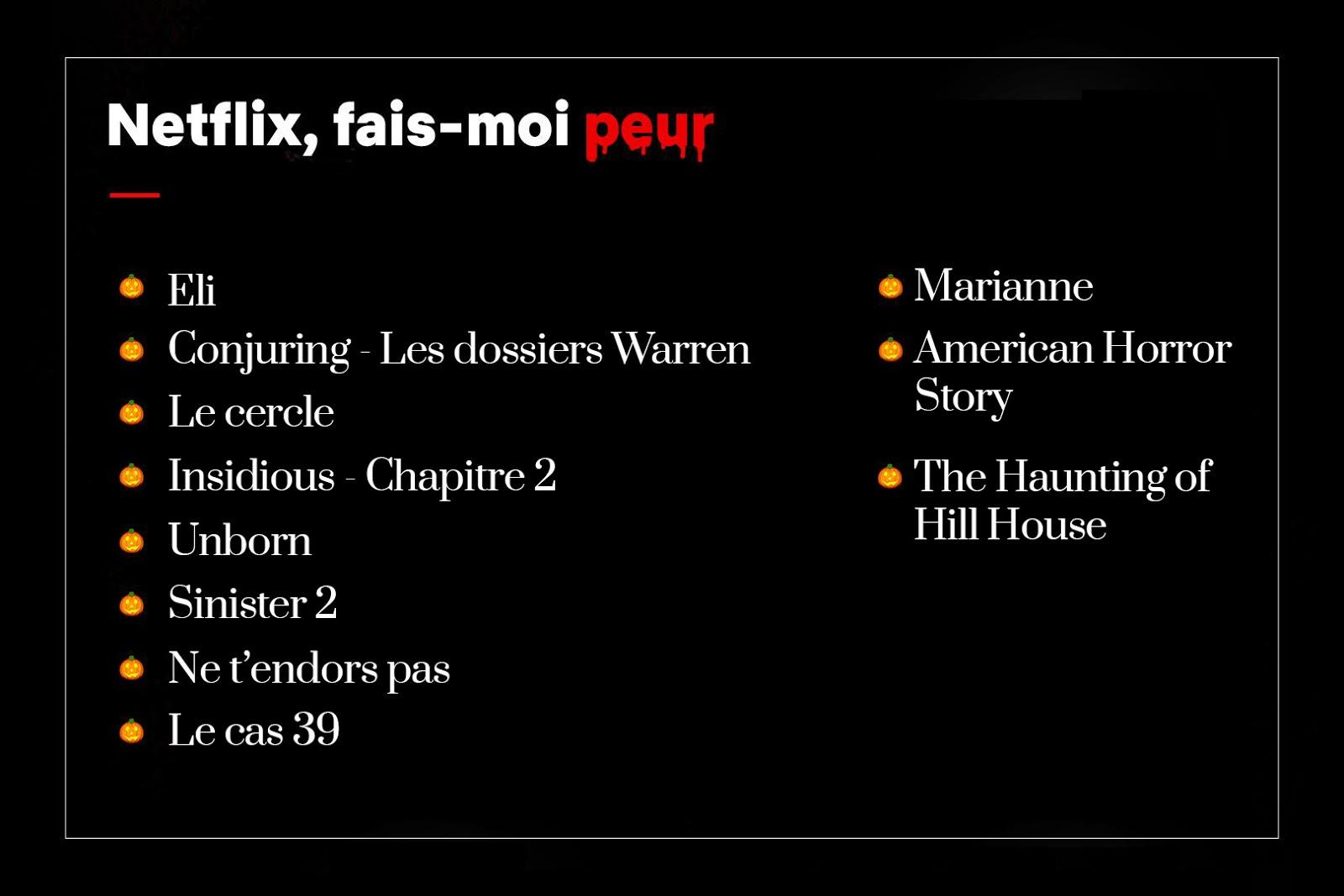 Halloween Film Netflix Programme Liste Soirée