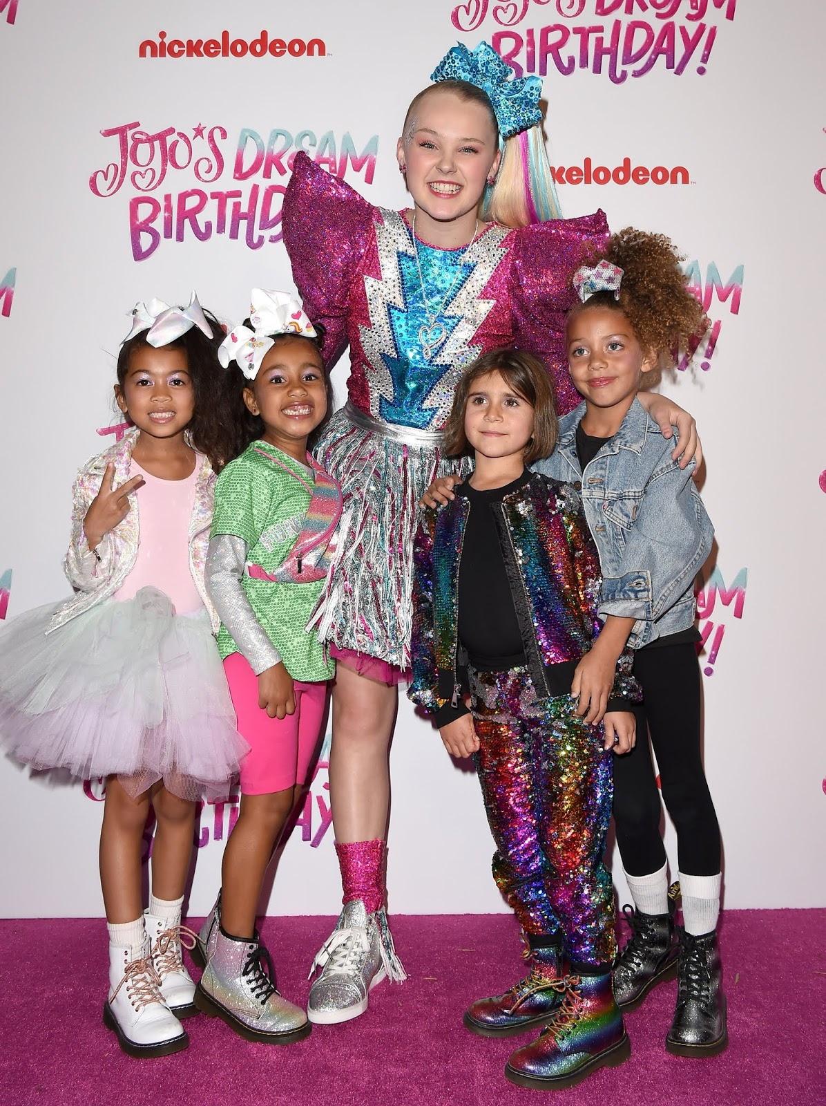1bc16c68268a62 NickALive!  North West and More Stars Attend JoJo Siwa s Sweet 16 ...