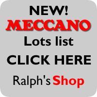 We are selling off ALL OUR MECCANO to keep uptodate with what is new click on the link below!