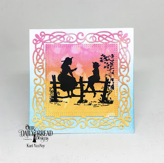 Our Daily Bread Designs Stamp Set: Sister Time, Custom Dies:Flourishy Frame