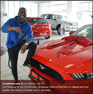 Nigeria Man Receives Ford Mustang On His 21st Birthday