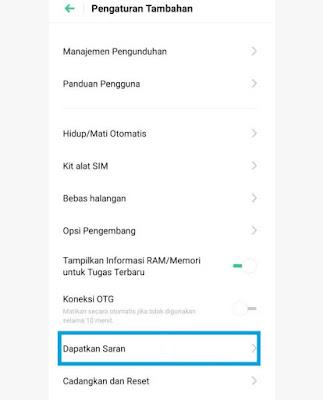 Hilangkan Iklan di HP Realme