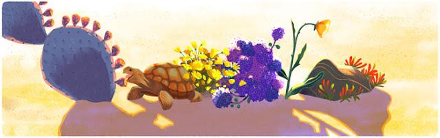 Google Doodle Hari Bumi 2016 Penyu