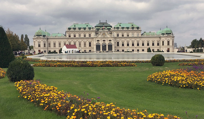 Front yard of the Upper Belvedere