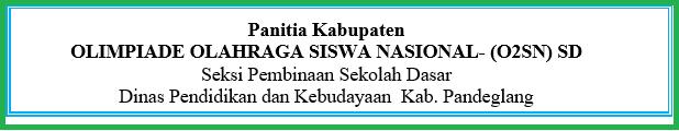 Panduan O2SN SD Tahun 2020 Se Kabupaten Pandeglang