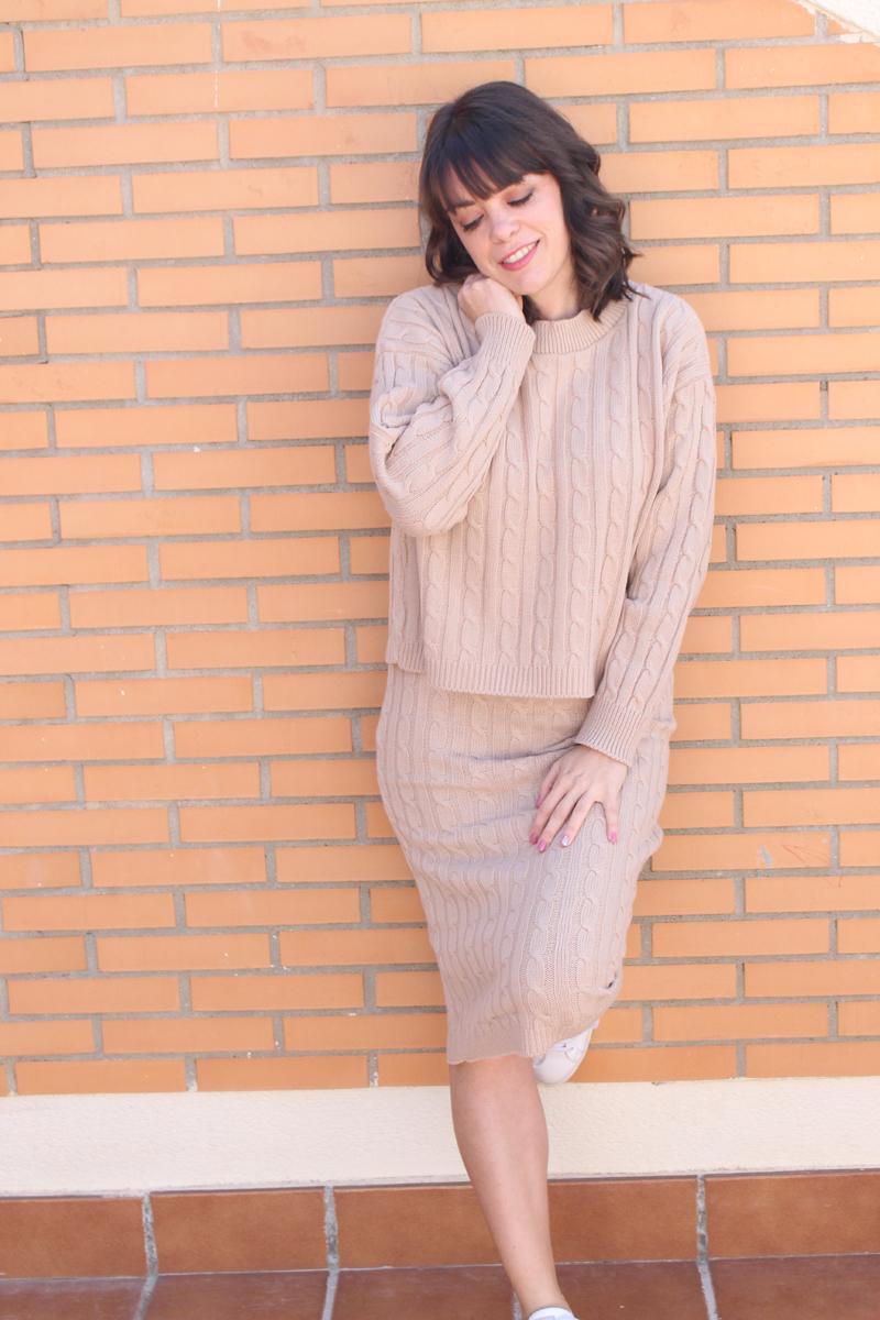 Conjunto punto falda