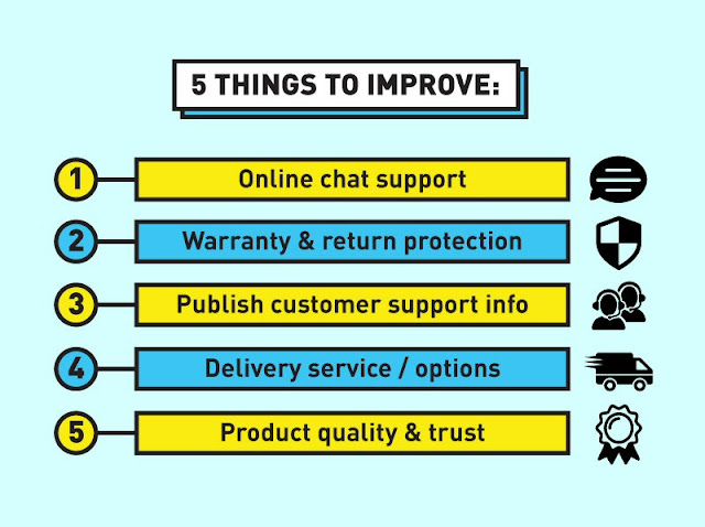 5 things to improve for online merchants