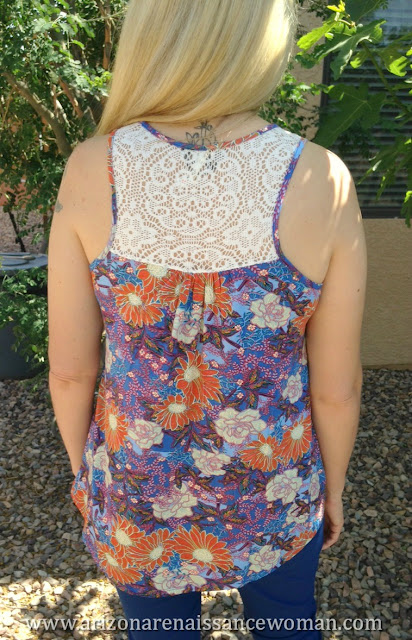 Gilli Lace Back Tank - Golden Tote Review - April 2016