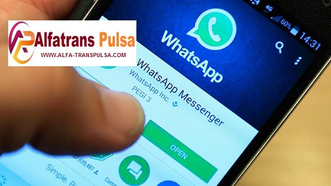 Cara Transaksi Alfatrans Pulsa Via WhatsApp