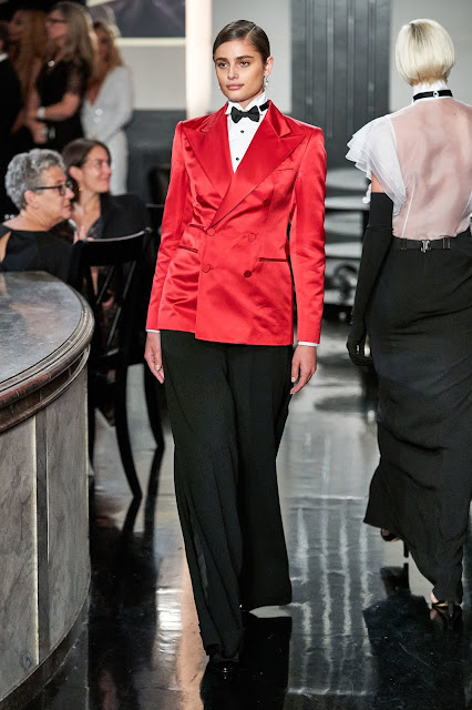 Ralph Lauren Fall 2019 Womenswear inspired by a jazz club and power dressing