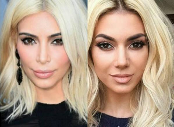 Kim Kardashian and Elvana Gjata