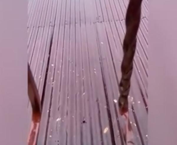 Video muestra supuesta lluvia de granizos en Pedro Brand