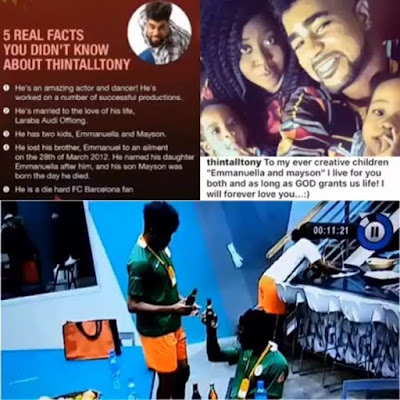 #BBNaija's ThinTallTony Denies His Daughter on Live TV (Video)