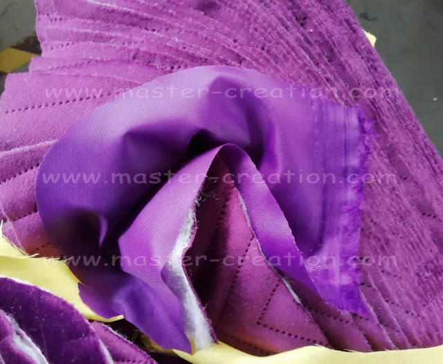purple material swatches