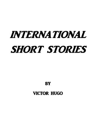International Short Stories By Victor Hugo In Pdf