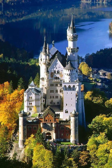 Neuschwanstein Castle - in the southwestern state of Bavaria, Germany!