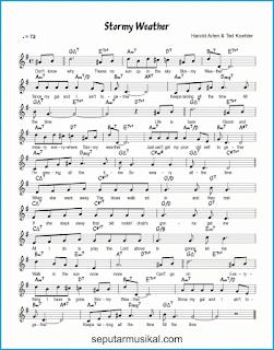 chord stormy weather lagu jazz standar