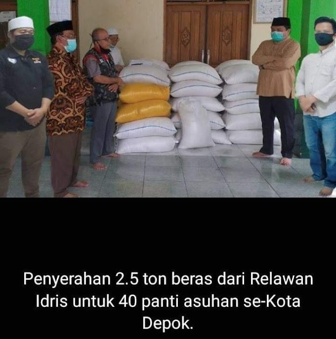 """Relawan Idris, Kirim 2,5 Ton Beras ke Panti Asuhan."""""""