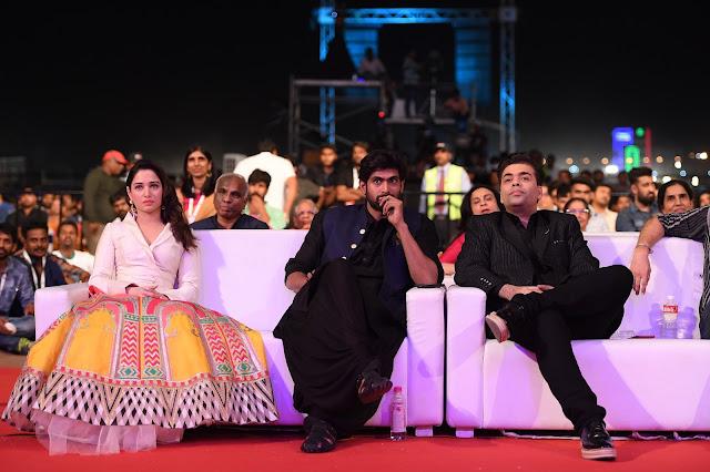 Tamanna, Rana, Karan Johar at Baahubali 2 Pre Release Event