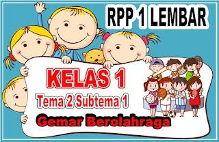 RPP 1 Lembar Kelas 1 Semester1