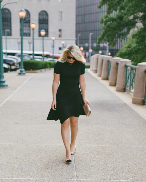 Perfect little black dress for fall