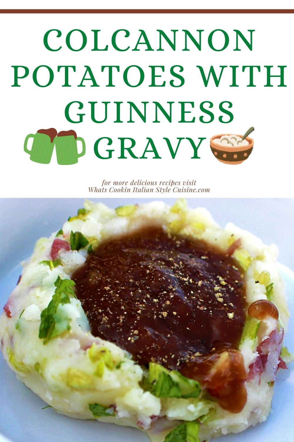 these are Irish potatoes with Guinness gravy