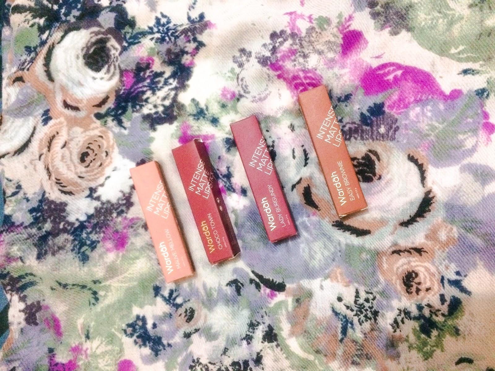 Wardah Intense Matte Lipstick Review Choco Town Mauve Nude Lady Lipstik Akhirnya Aku Memutuskan Untuk Cobain 5 Varian Yaitu Blushing Yang Sudah Di Sini