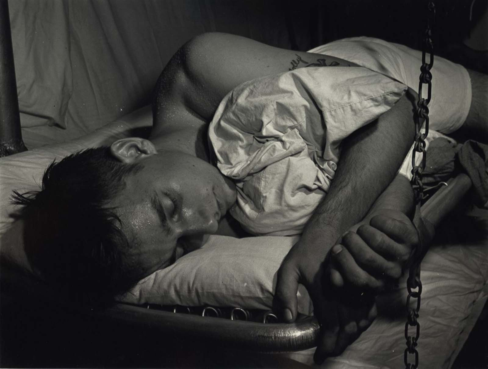 Sleeping man, c. 1942-1945.