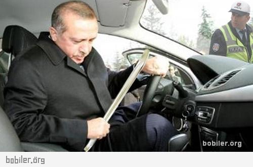 başbakan levyeyi test ederken