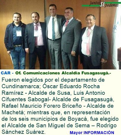 Alcaldes de Fusagasugá, Susa, Machetá y San Miguel de Sema, elegidos como integrantes del Consejo D