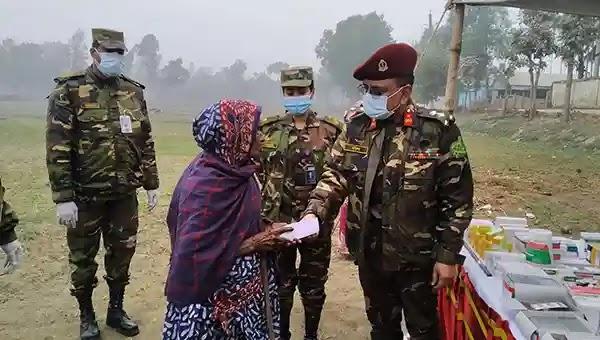 ঘাটাইলে সেনাবাহিনীর উদ্যোগে বিনামূল্যে চিকিৎসাসেবা প্রদান