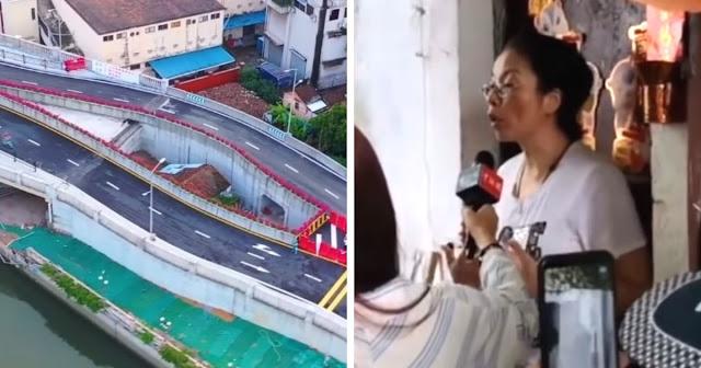 В Китае крупное шоссе построили вокруг дома местной жительницы. Власти не могли договориться с ней 10 лет
