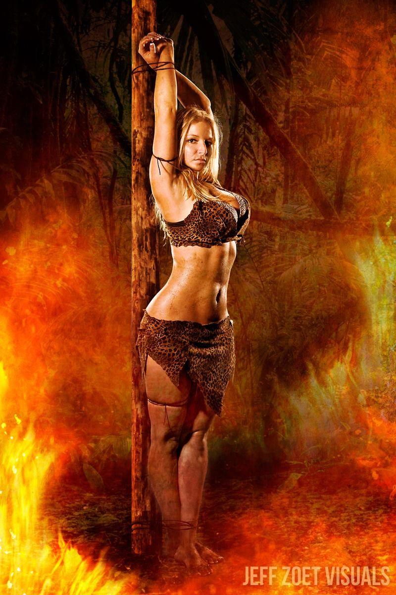 Jungle Girl (Jana Sky-Born) tied up by JungleCaptor