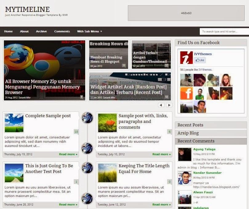My Timeline Responsive Premium Blogger Template - keywords HERE