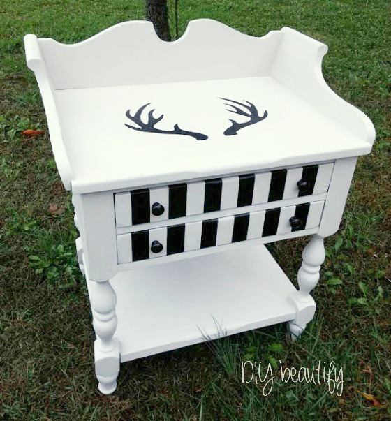 side table painted with Southern Honey chawk paint