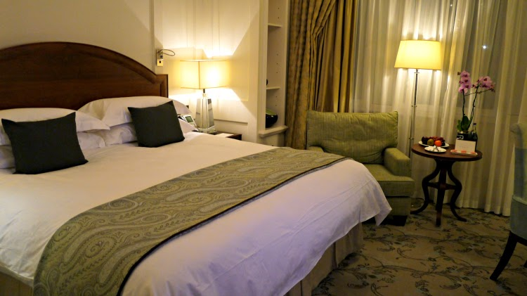 Deluxe room at five star Langham hotel London
