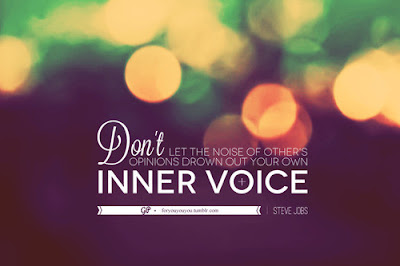 "Letting Your Inner Voice Lead You to Your ""Supposed To's""."