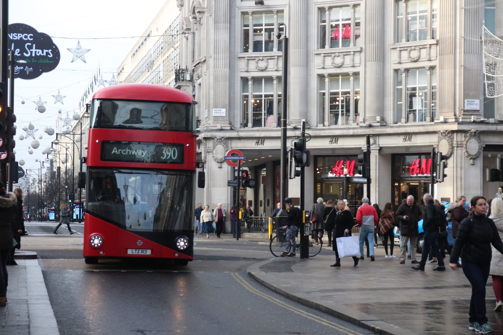 London Bus on Oxford Street