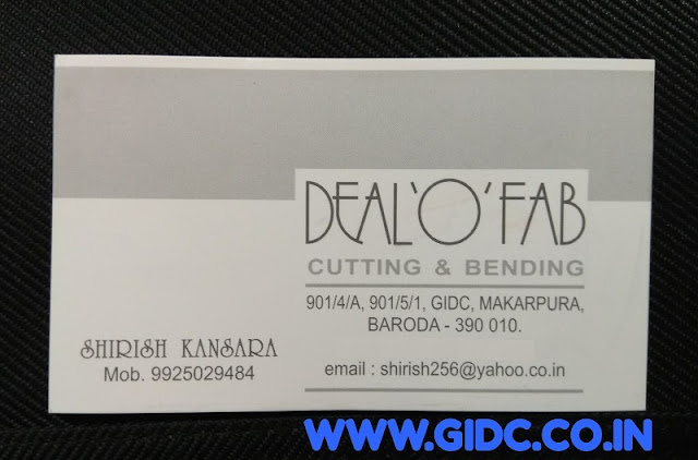 DEAL O FAB - 9925029484 Cutting Bending GIDC