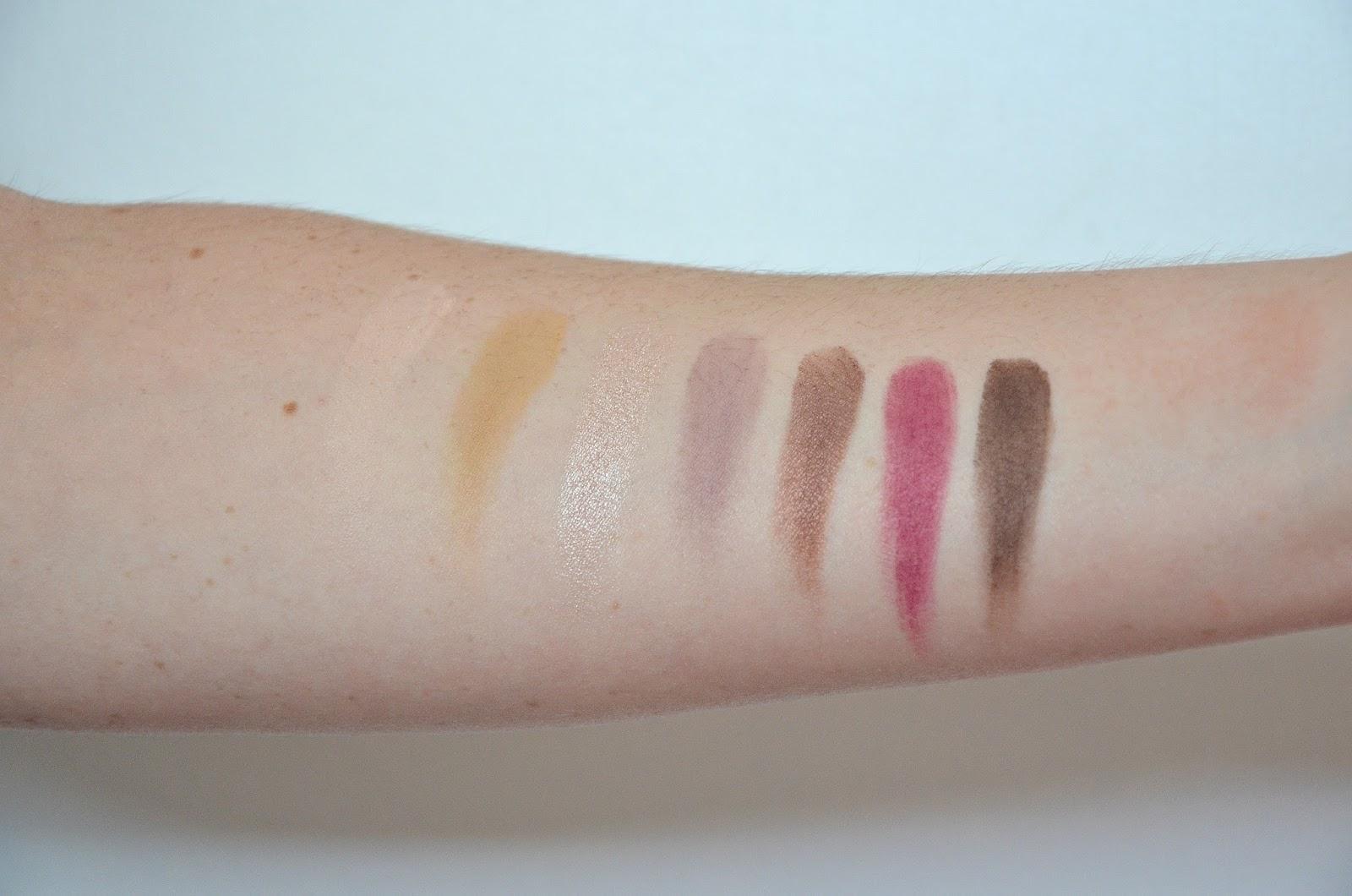 Anastasia Beverly Hills ABH modern renaissance eyeshadow palette swatch first line