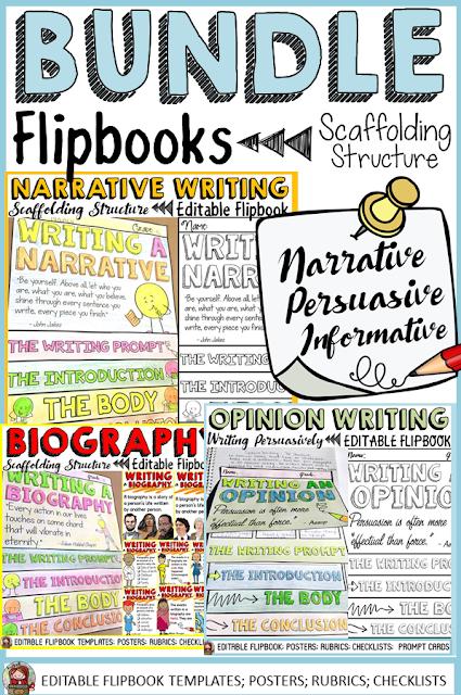writing flipbook narrative opinion persuasive