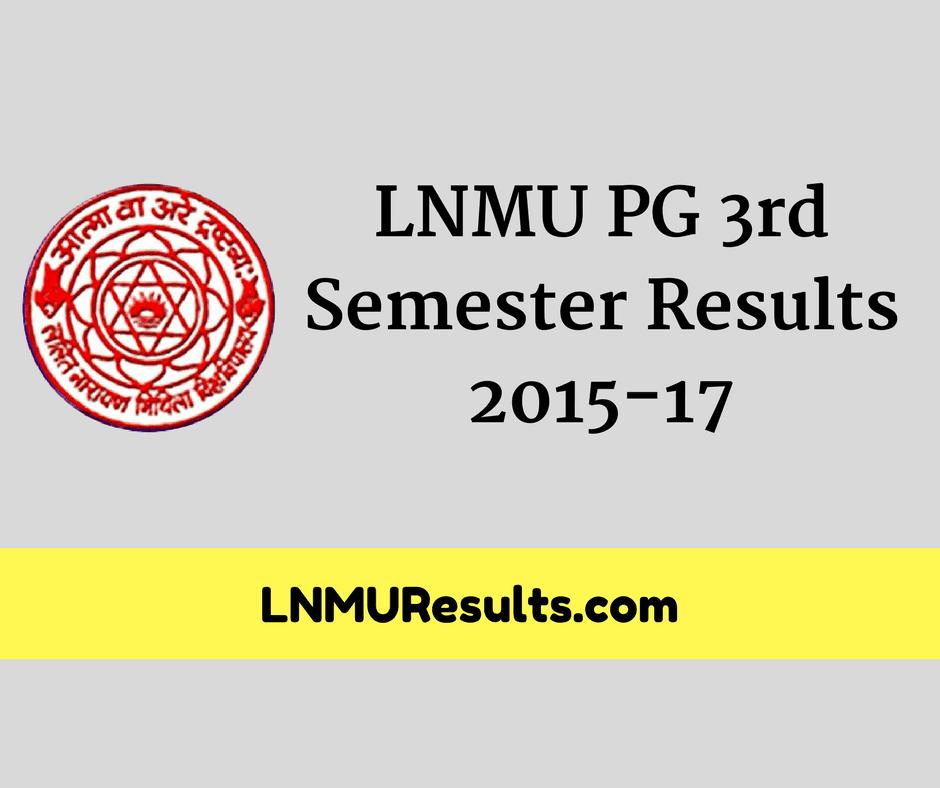LNMU PG 3rd Semester Results