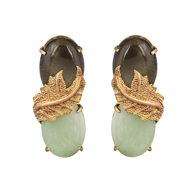THE ATHENA MOONSTONE EARRING by Studio Tara available at Velvetcase.com Rs 72,359-