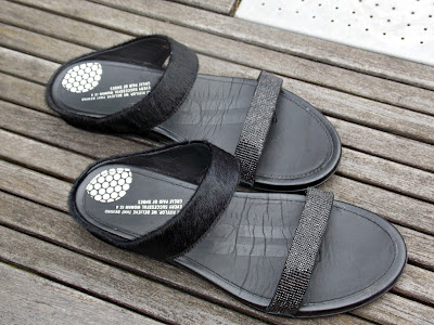 FitFlop Banda Micro-Crystal Lux Leather Slides