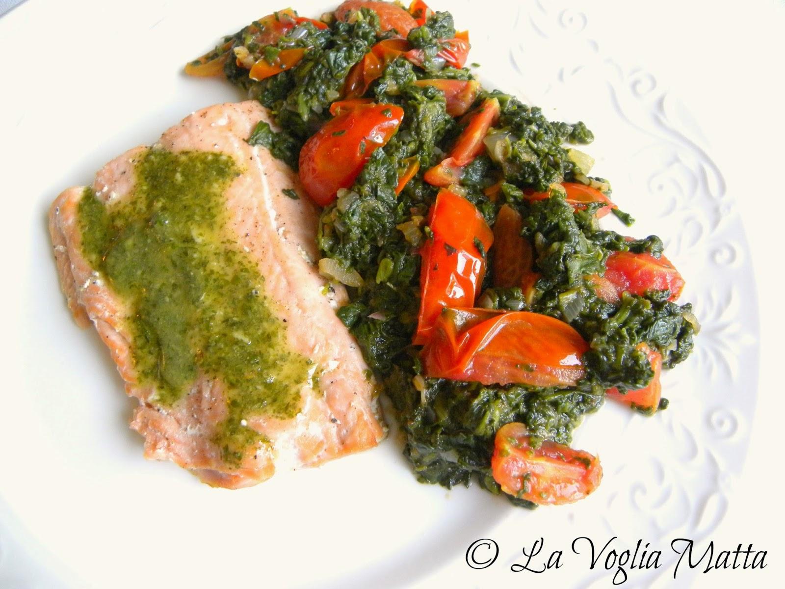 ricetta salmone con salsa di coriandolo e zenzero