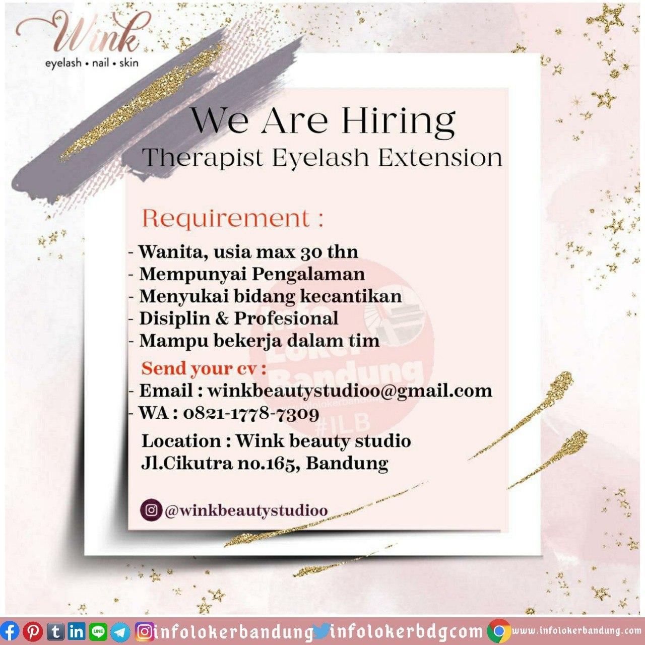 Lowongan Kerja Therapist Eyelash Extension Wink Beauty Studio Bandung Juni 2020