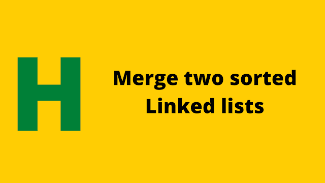 Hacekrrank Merge two sorted linked lists solution